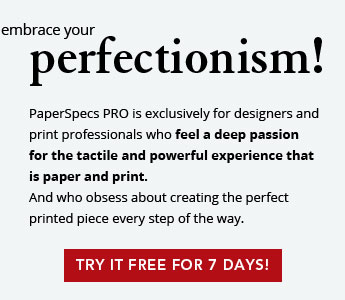 Embrace perfectionism