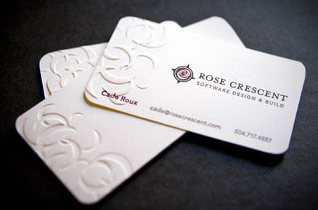 Rose crescent business cards paperspecs rose crescent business cards reheart Images