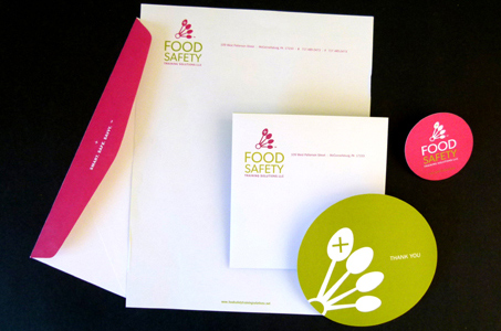 Food safety training solutions identity paperspecs spot colors finishing and binding thank you card 5 circle diecut business card 25 circle diecut flat sheet envelopes converted for flap coverage colourmoves