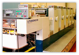 Example of offset press used in spot vs process color models