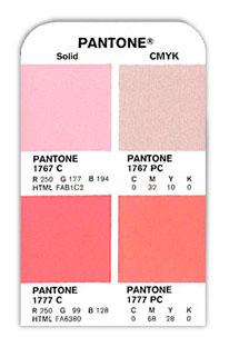 Example of multiple pantone colors used in spot vs process color theory