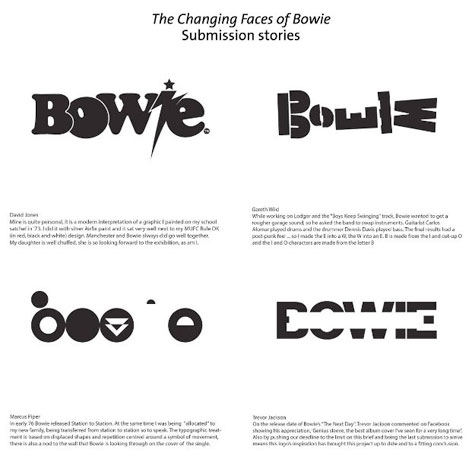 David Bowie + Typography = Awesome - PaperSpecs