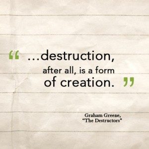 graham greenes the destructors The two sources for this essay are the destructors by graham greene and tsotsi by athol fugard the destructors tells the story of a.