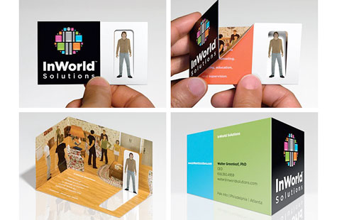 Psychotically brilliant business cards paperspecs designed by gee chung design this award winning piece gives each employee their own avatar on a flat folded business card size piece colourmoves