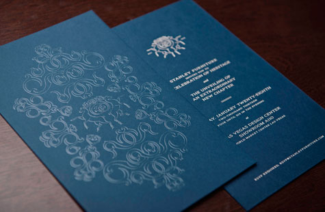 stanley furniture rebrand launch party invitations  paperspecs, party invitations