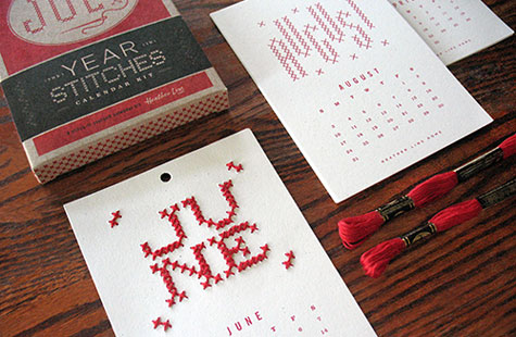 2014 year in stitches calendar kit paperspecs what do you get when you cross a designer with a love of typography and a passion for crafts a cross stitch calendar made in diy heaven solutioingenieria