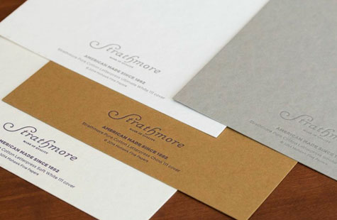 Strathmore stationery example with letterpress accents