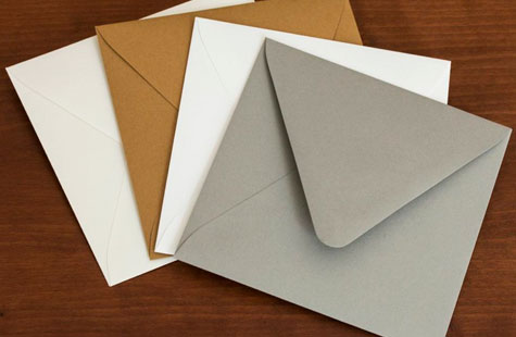 Matching envelopes for stationery