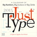 The Just Type Calendar features stats, history and other information about 12 different typefaces.