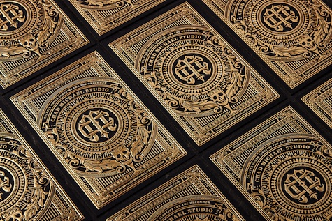 Gold foil cards for Chad Michael Studio