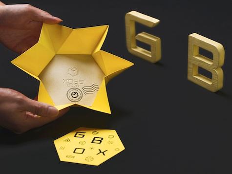 GBOX origami card open