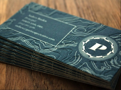 Topographical Business Cards
