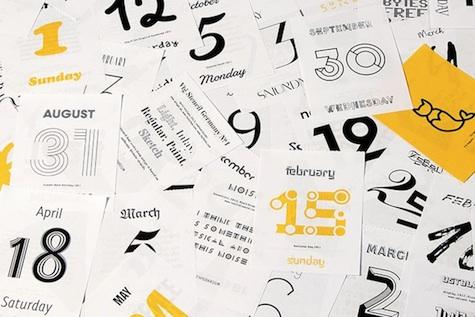 Typodarium 2015 Calendar