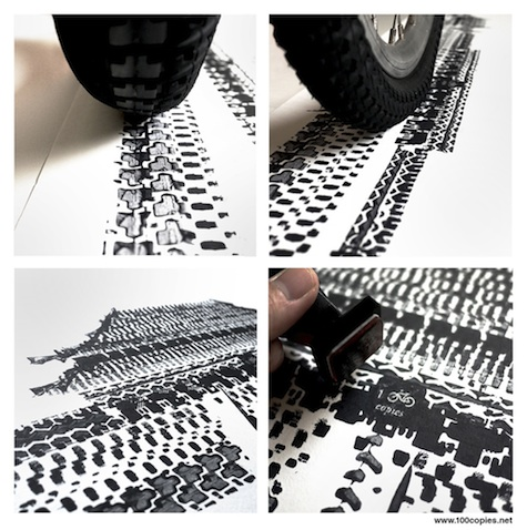 Bike tire print: The Forbidden City