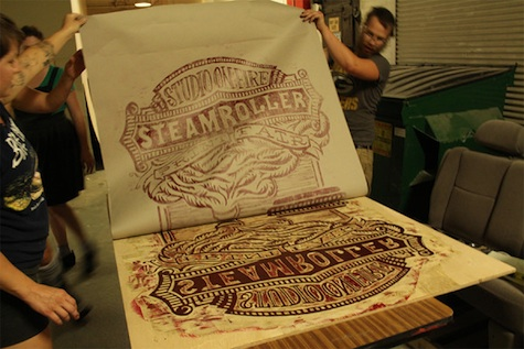 Steamroller print