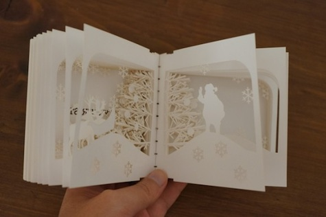 360-degree Laser-cut Xmas Book