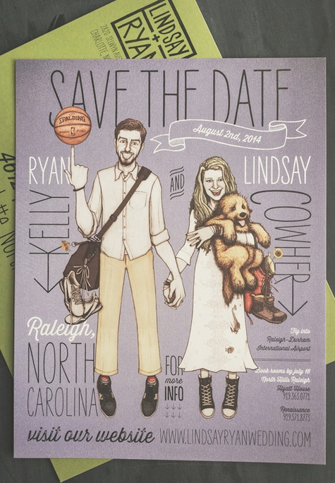 Lindsay and Ryan's Wedding Invitations