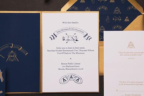 Secret Society wedding invitations