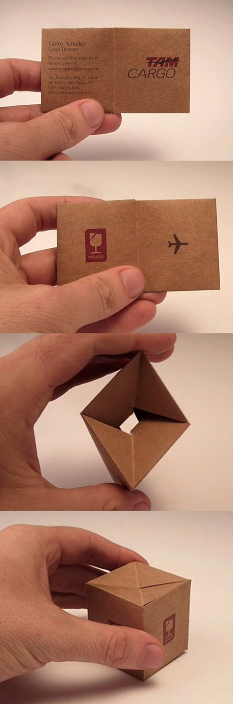 3d folding business card