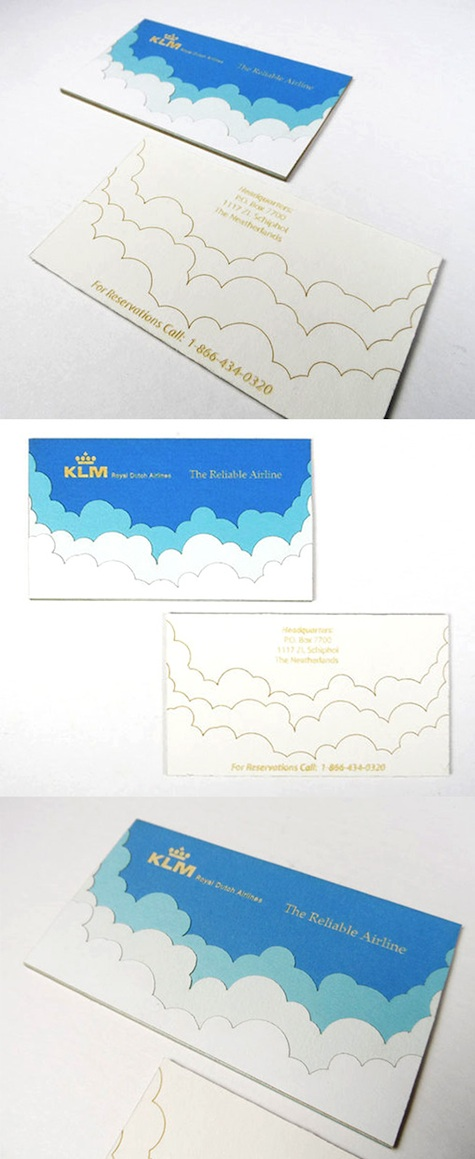 airline business card