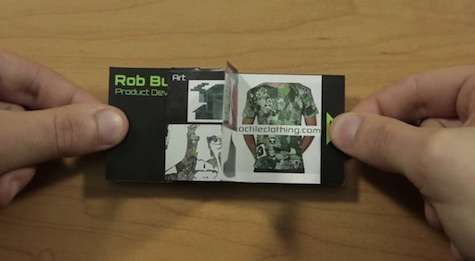 flip book business card