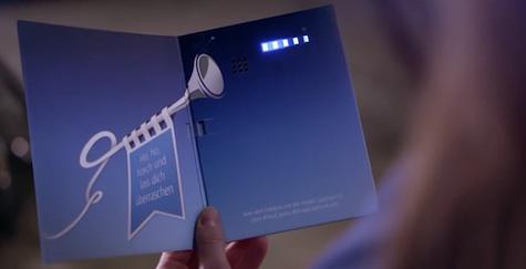 phoning greeting card design