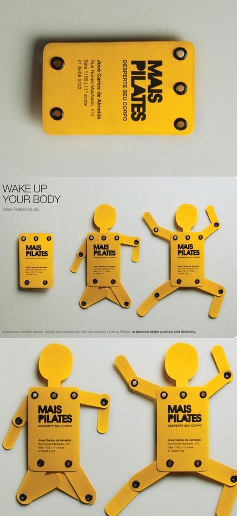 pilates studio business card
