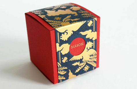 Example of color texture using a silkrose red box design.