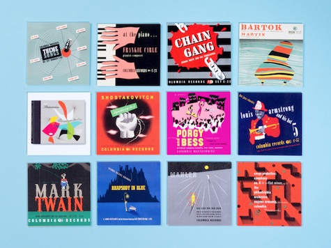 album cover business cards