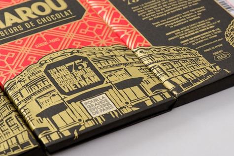 marou chocolate wrapper design