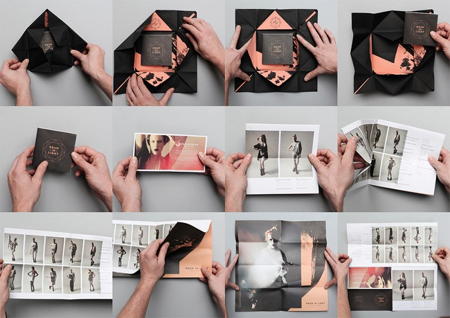 draw in light look book design