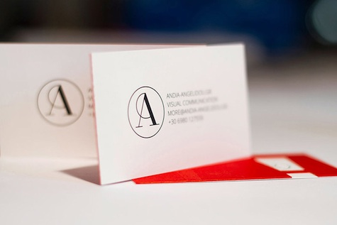duplex diecut business card
