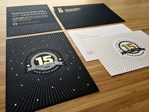 five star bank invite design