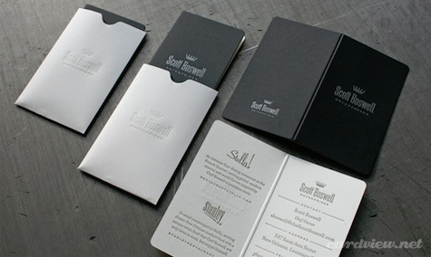 menu business cards