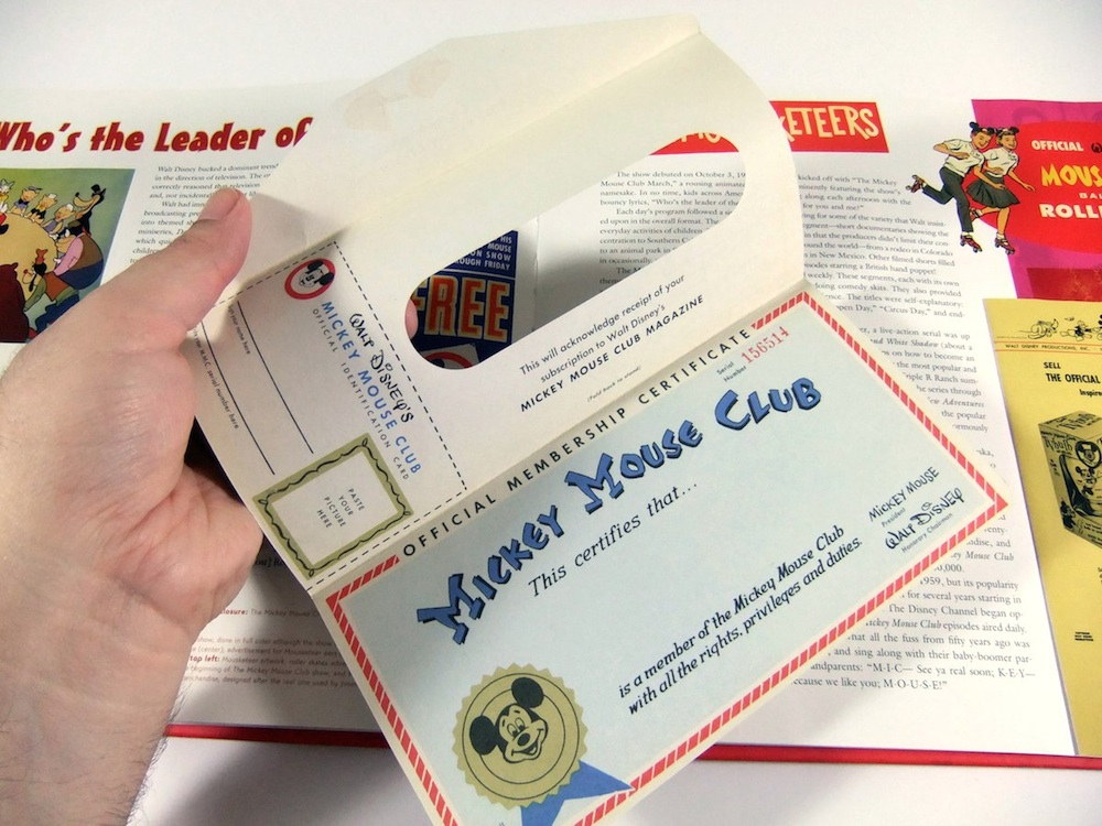 mickey mouse treasures book design