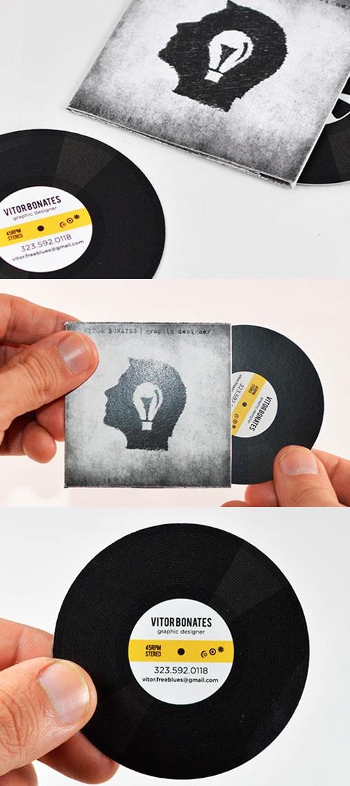 album business card