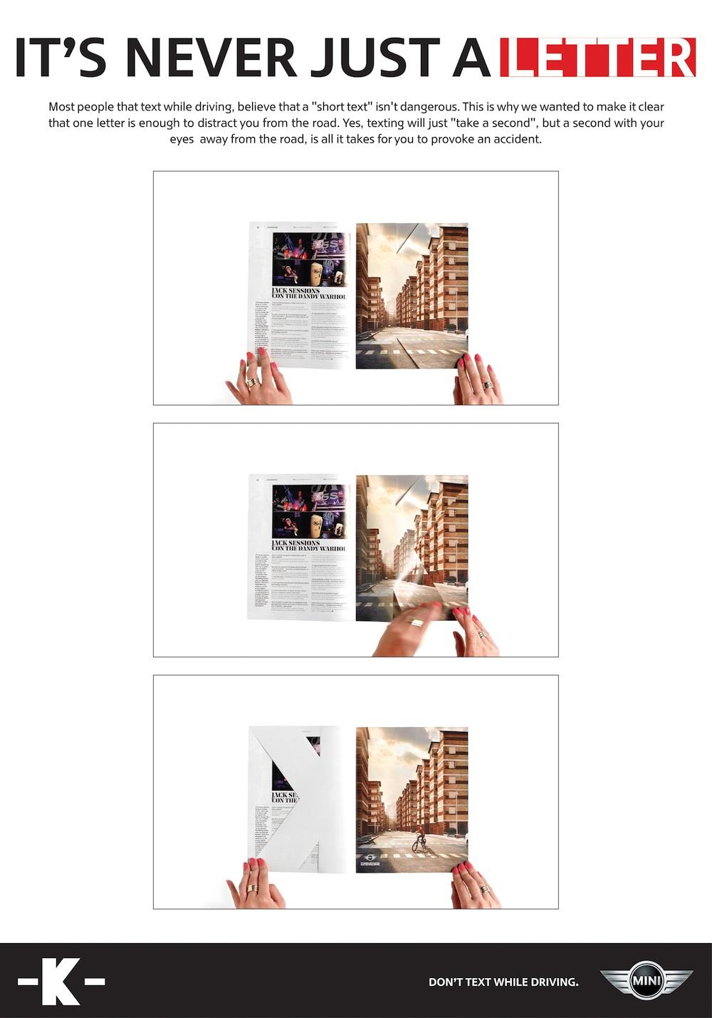 anti texting ad design