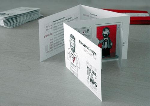 foldout business card