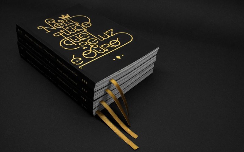 gold zine design