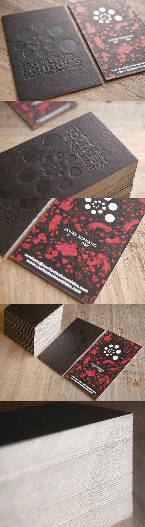 textured letterpress business card