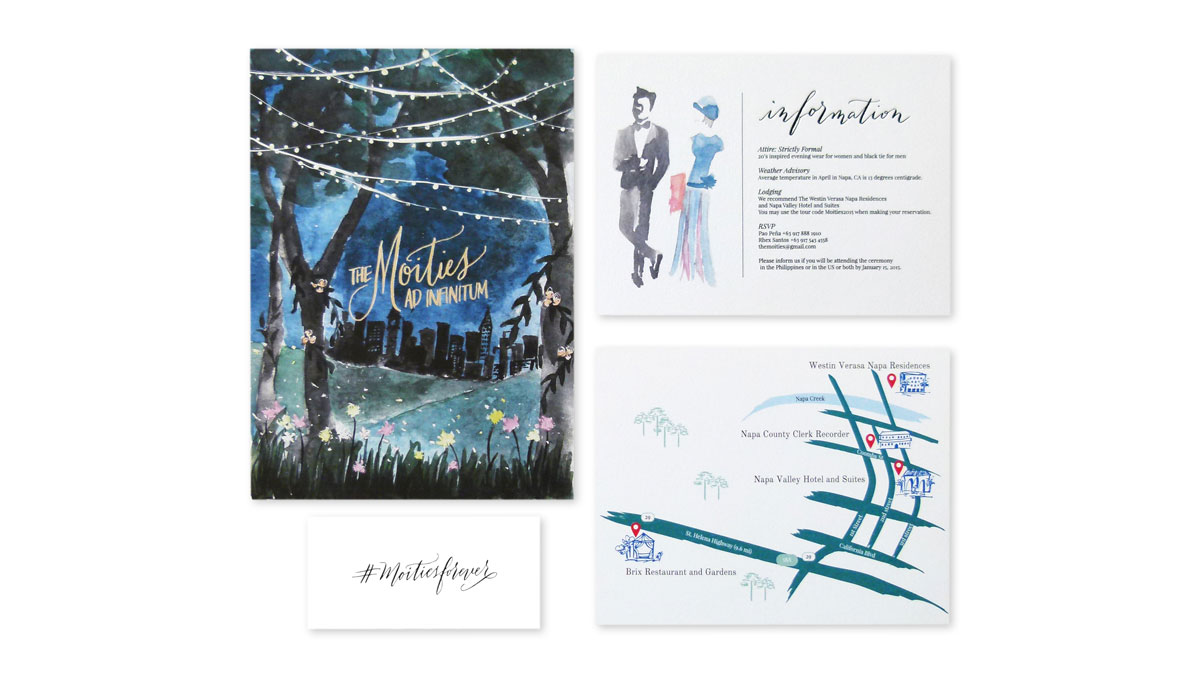 The Moities Wedding Invitation - PaperSpecs