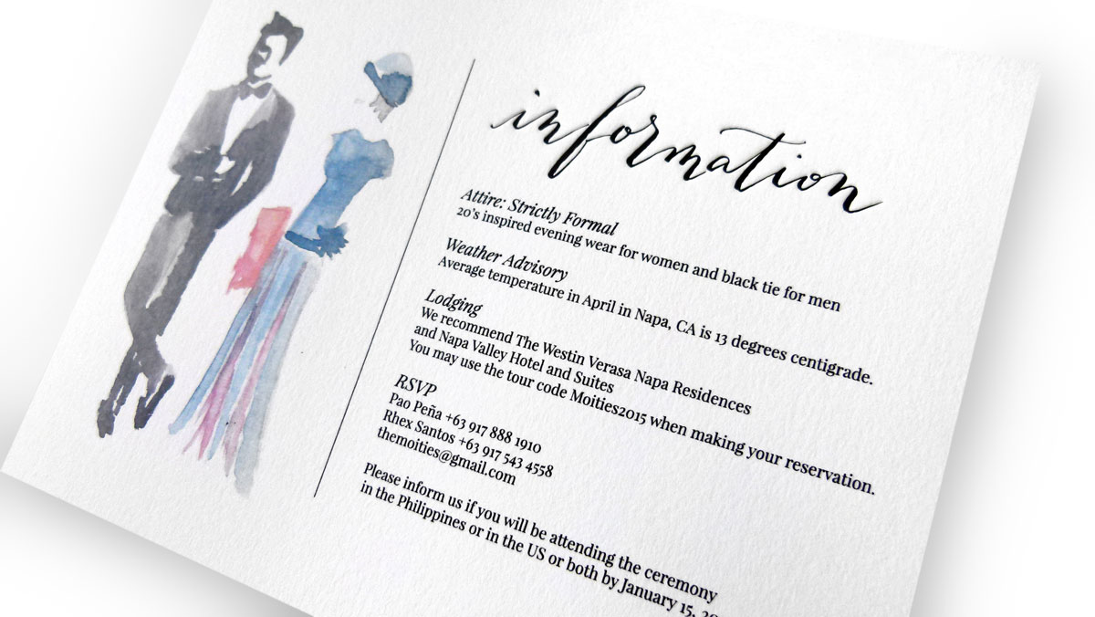 The Moities Wedding Invitation