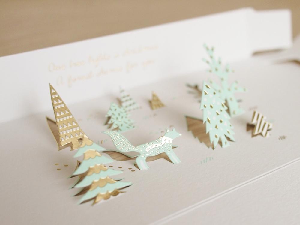christmas forest scene design