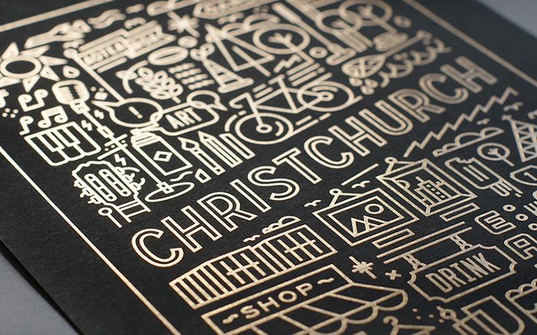 Christchurch Art Print Design