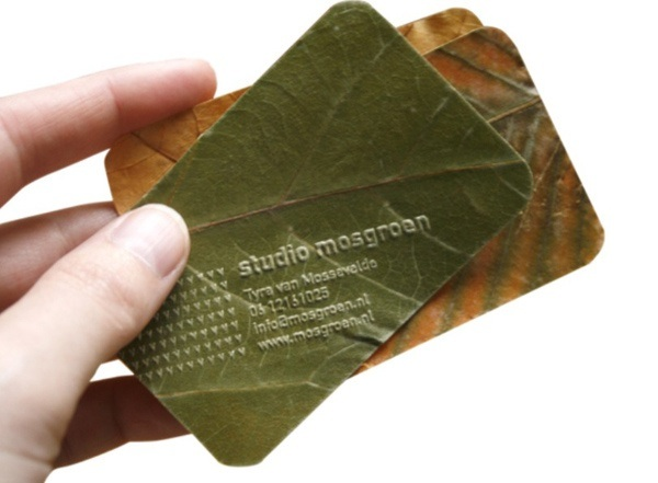 Business cards of the week paperspecs for Leaf business cards