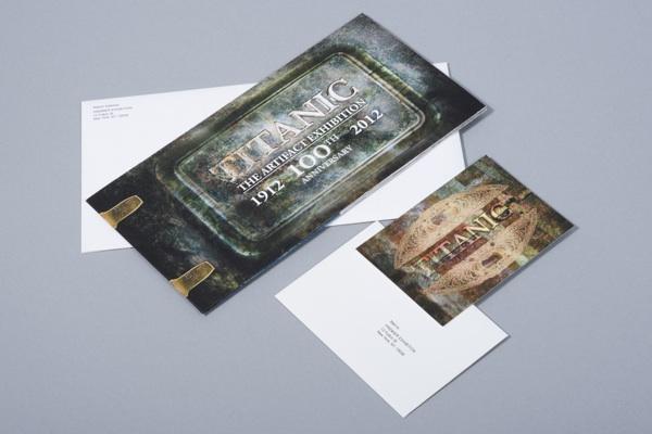 titanic exhibit invite design