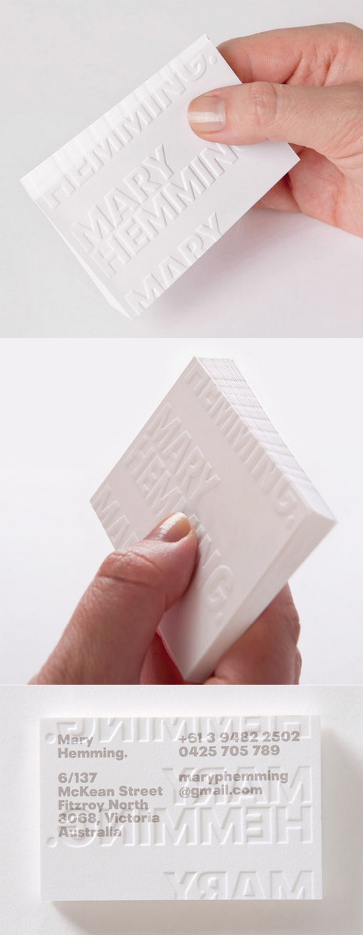 mary heming business card