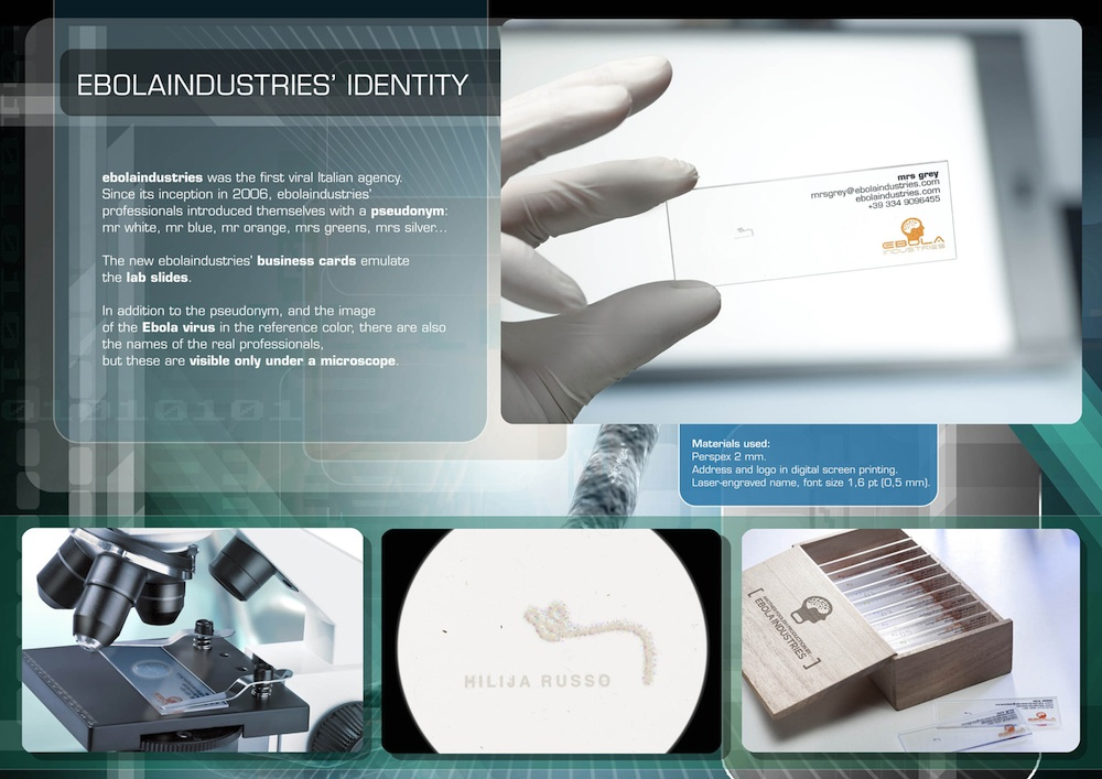 microscope slide business card
