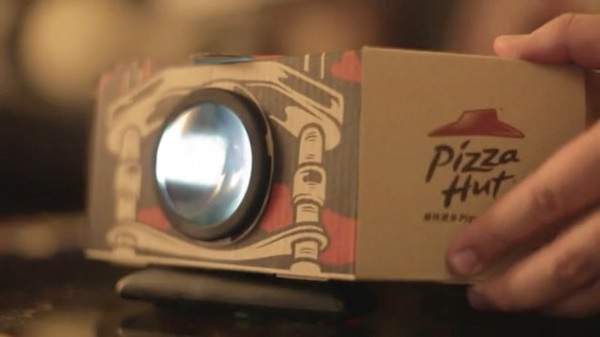 pizza hut projector packaging