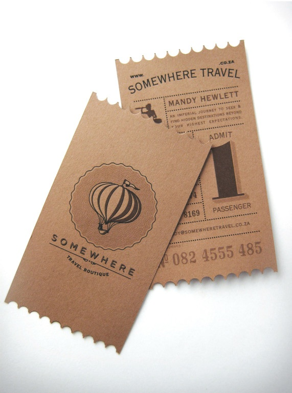 somewhere travel business card